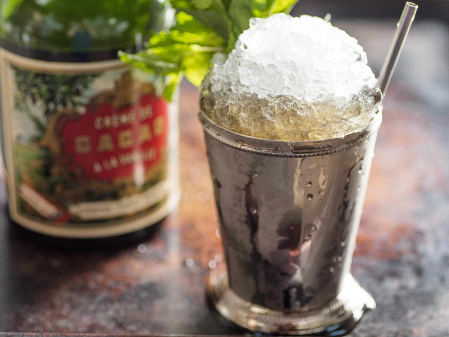 Chocolate Mint Julep Cocktail