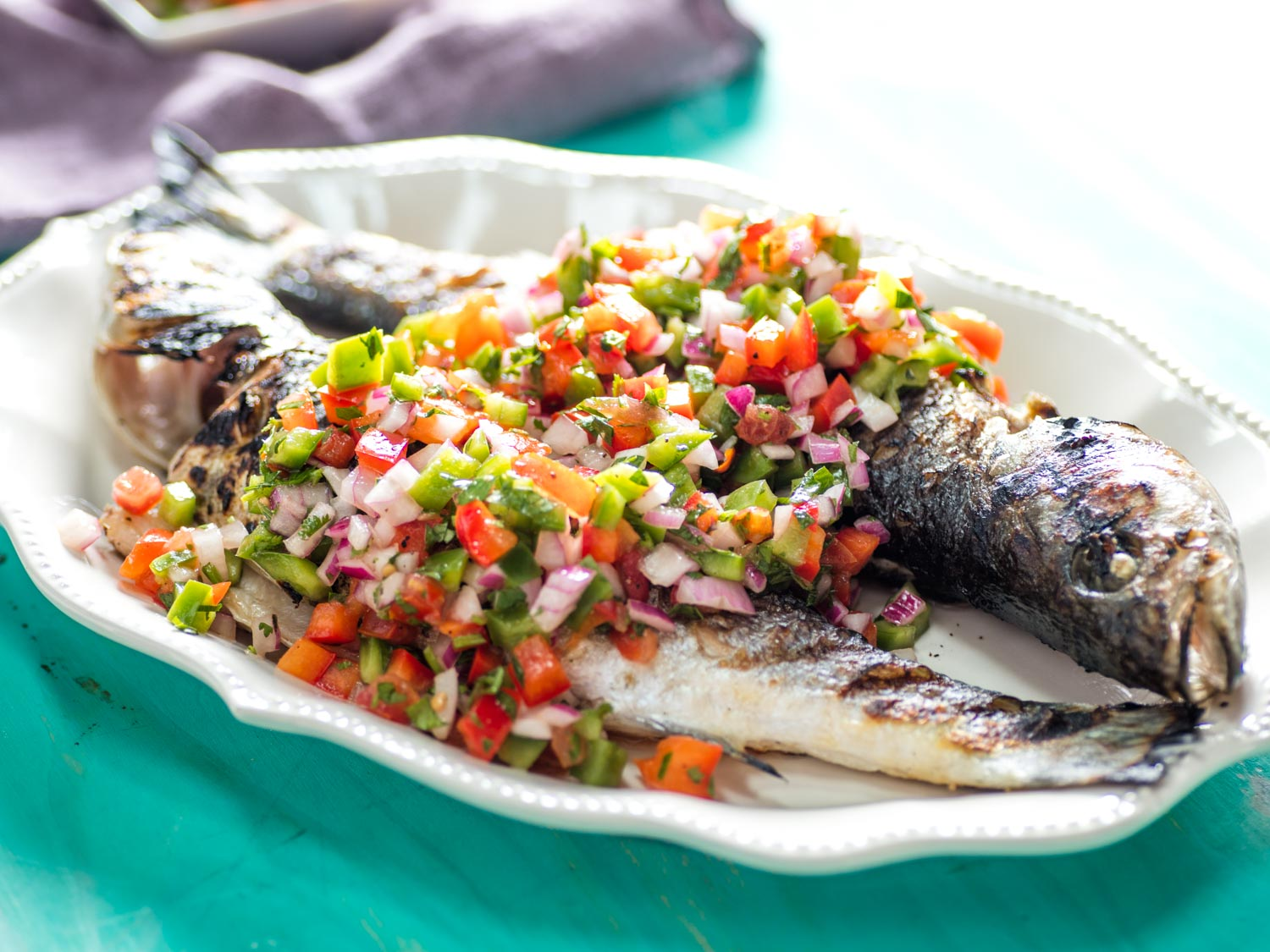 Grilled Whole Fish With Molho à Campanha (Brazilian Pico de Gallo)