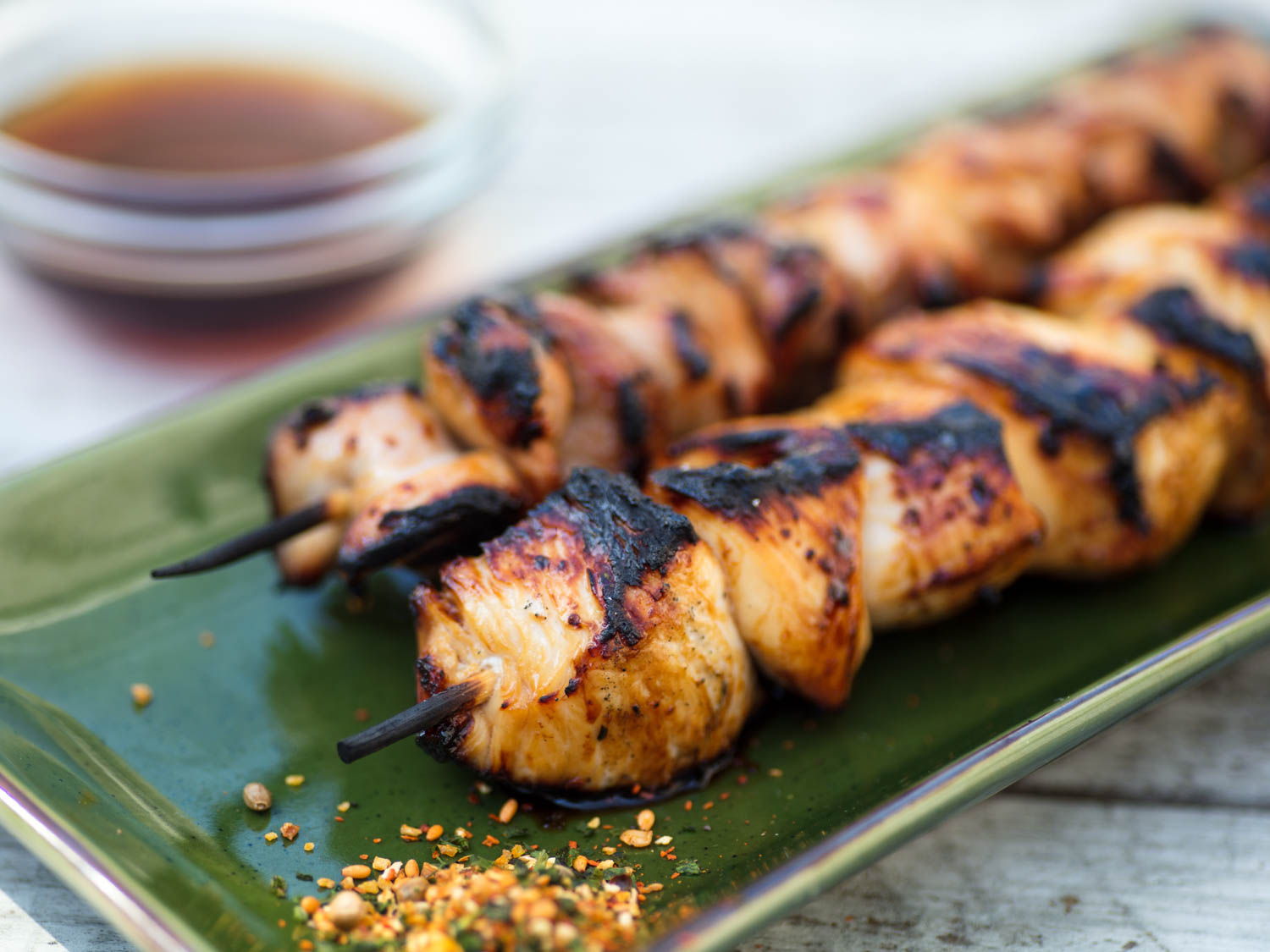 Sweet-and-Sour Grilled Chicken Skewers (Yakitori Nanbansu)