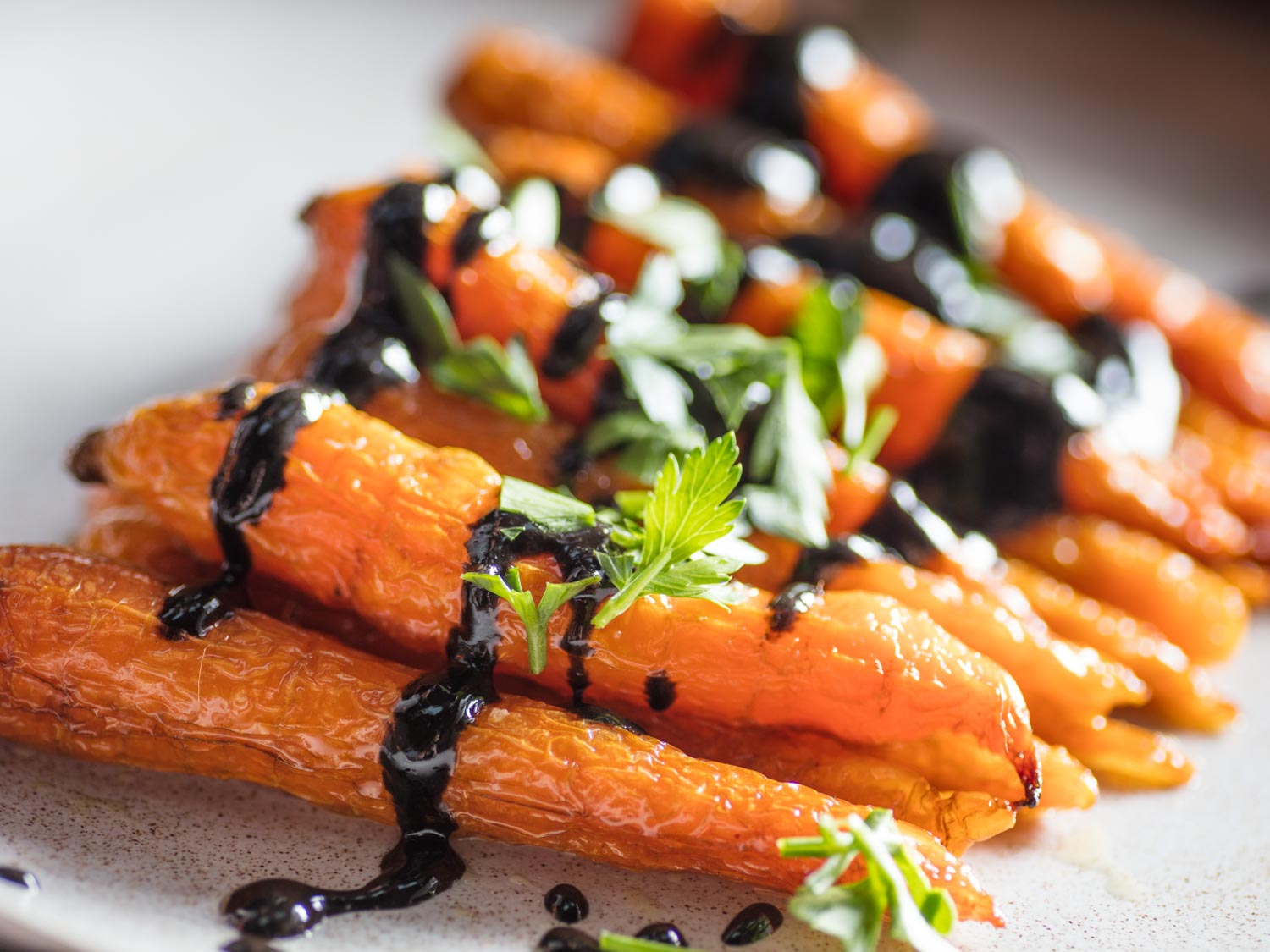 Roasted Carrots With Black Sesame Dressing