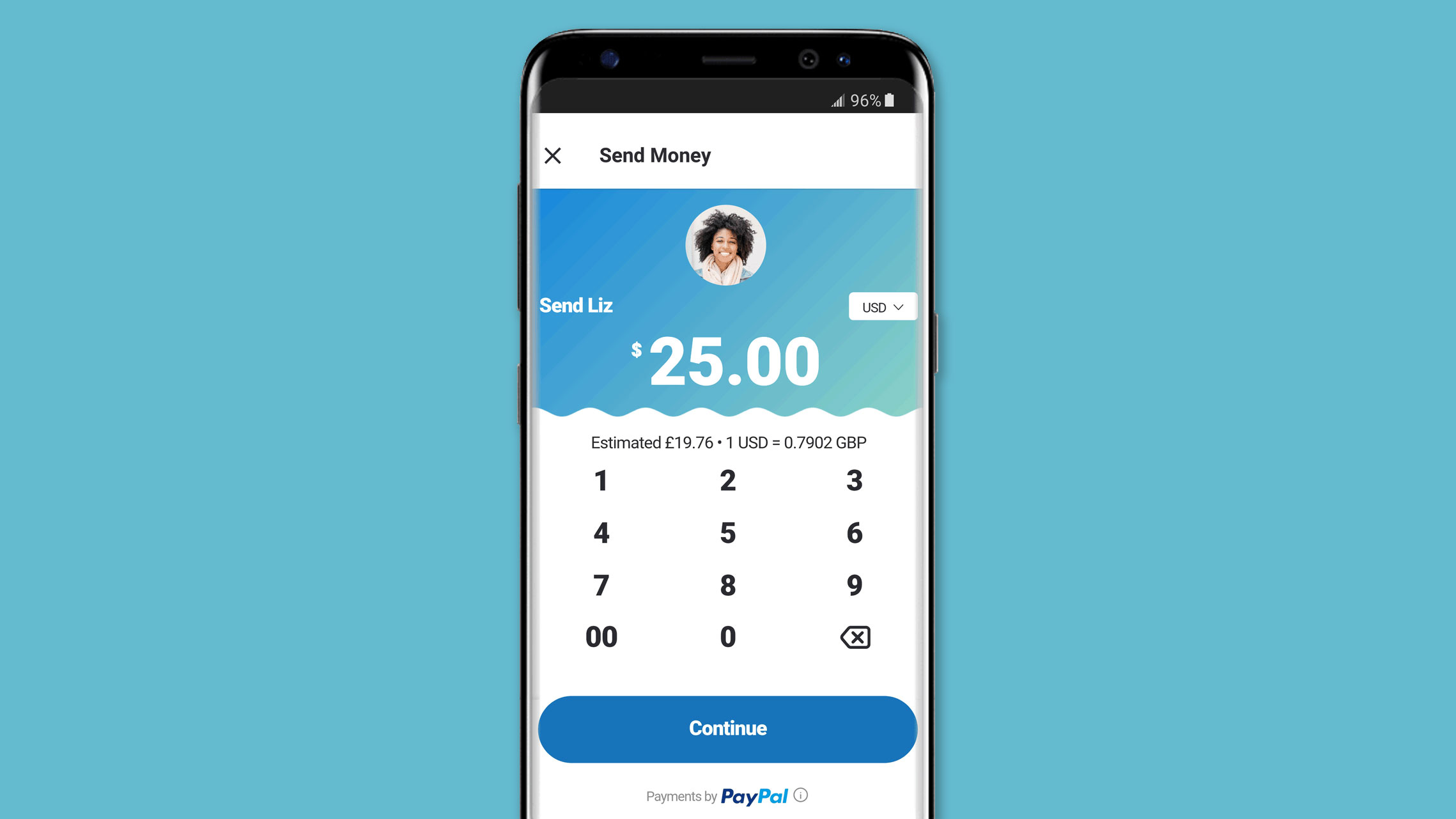 You can now use PayPal through Skype's mobile app