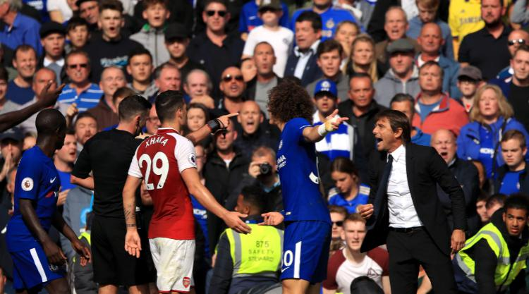 Antonio Conte critical of referee after David Luiz red card in goalless draw