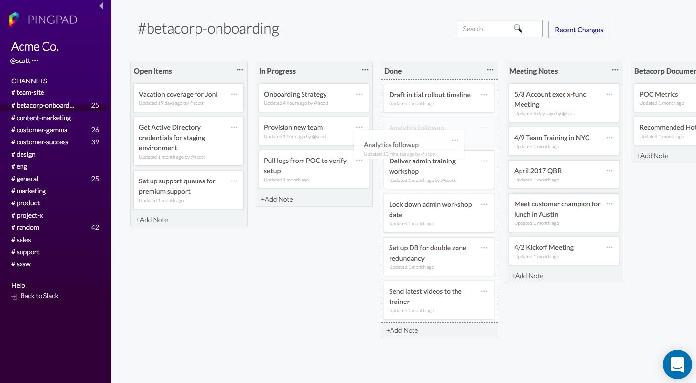 Pingpad update brings organizational layer to Slack