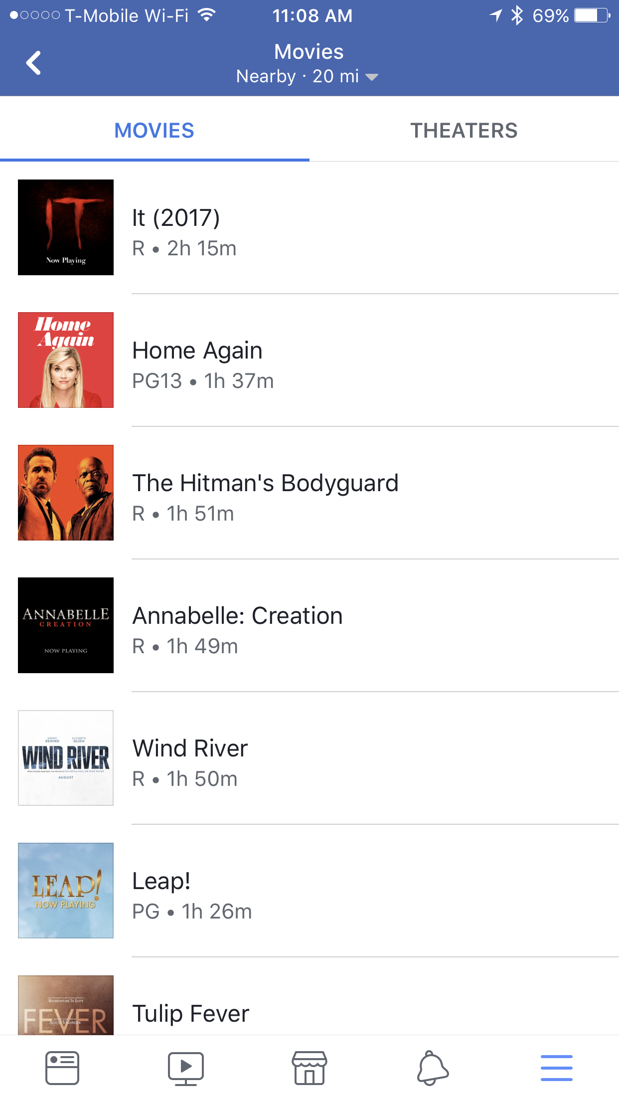 "Facebook adds a dedicated ""Movies"" section offering showtimes and ticket sales"
