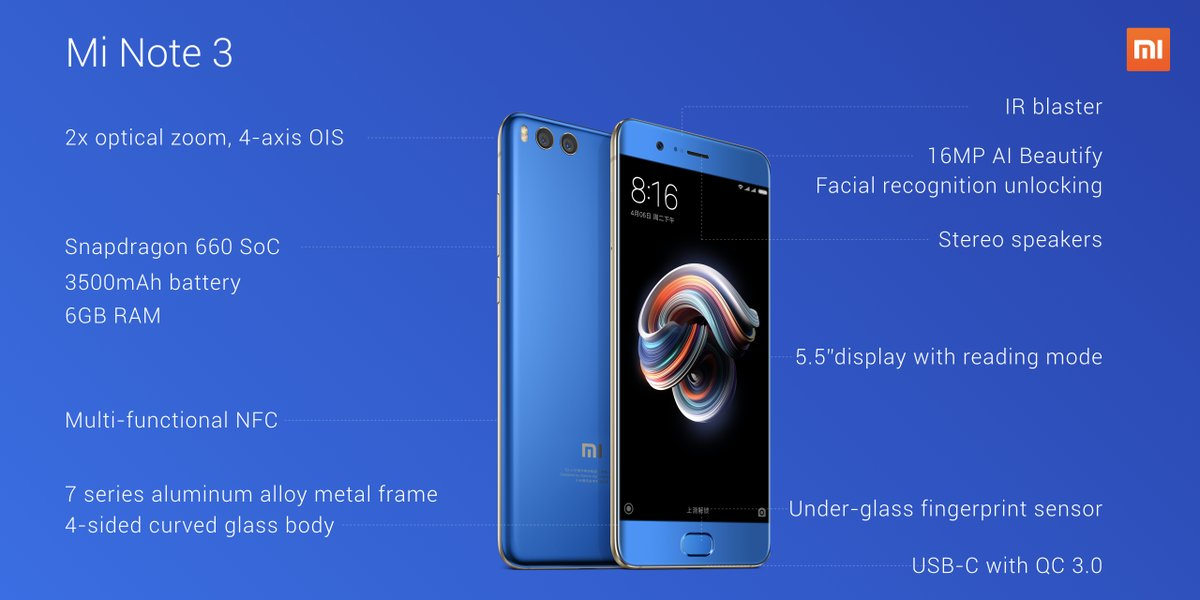 Xiaomi unveils second bezel-less Mi Mix smartphone and new Mi Note phablet