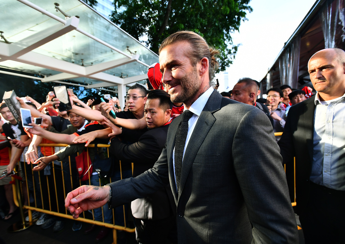Football superstar David Beckham in Singapore: On healthy living and more