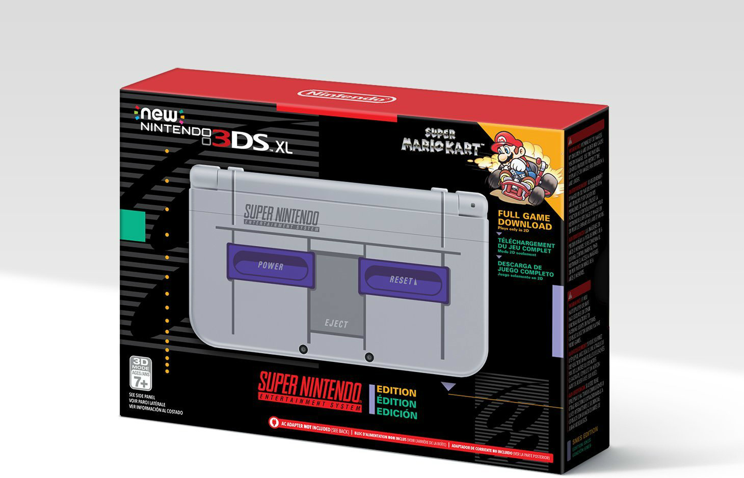 Nintendo to release SNES-themed 3DS XL in the U.S.