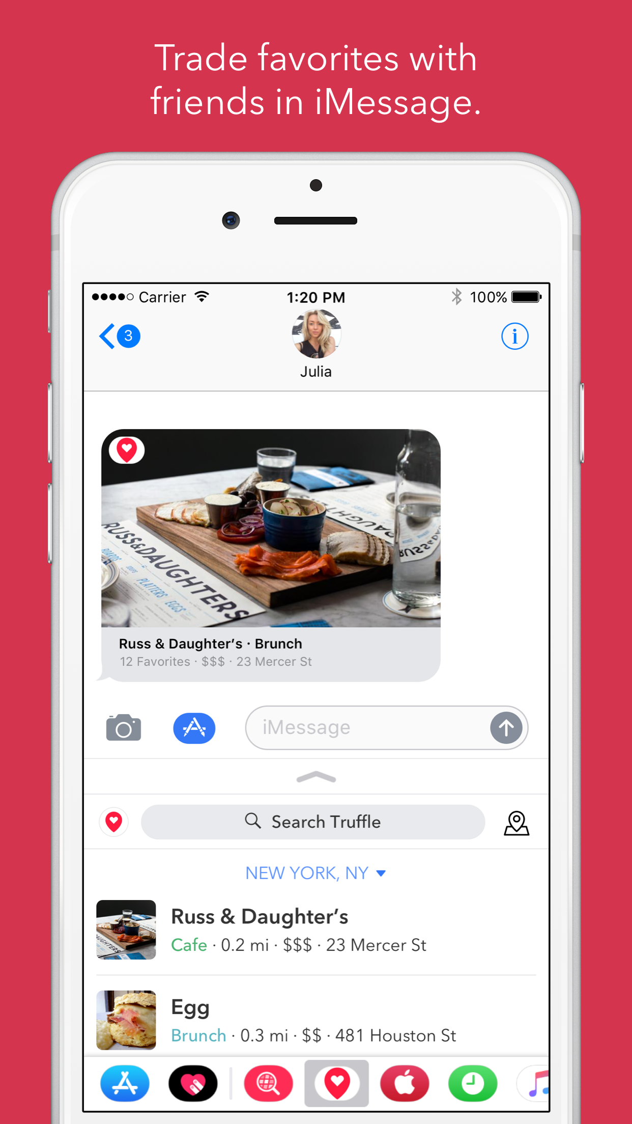Truffle now lets you send your food tips via iMessage