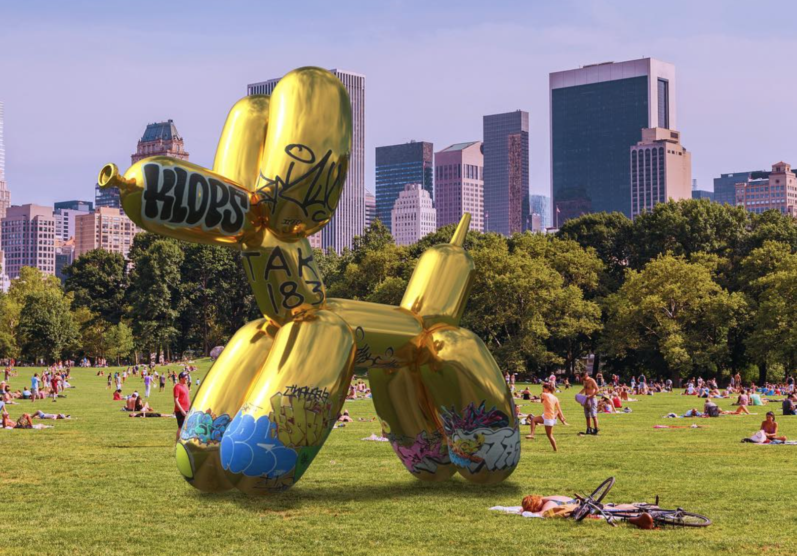 Jeff Koons' augmented reality Snapchat artwork gets 'vandalized'