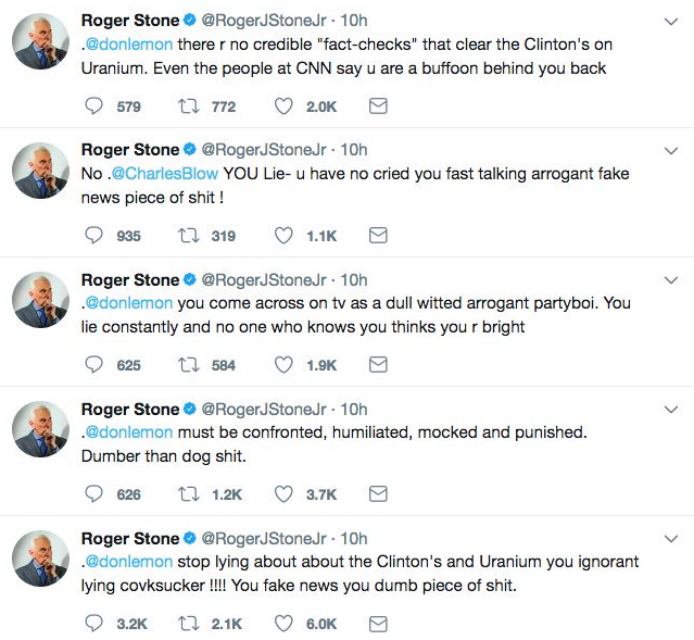 Donald Trump confidant Roger Stone Jr. suspended from Twitter