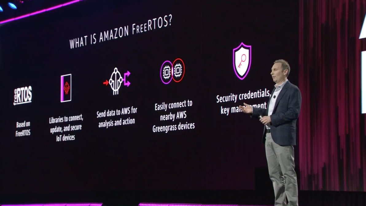 Amazon FreeRTOS is a new operating system for microcontroller-based IoT devices