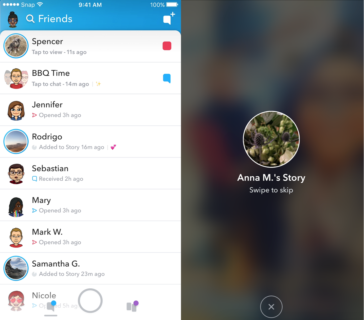 Snapchat starts algorithm-personalized redesign splitting social and media