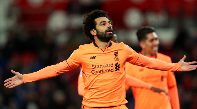 Mohamed Salah comes off the bench to score twice as Reds win at Stoke