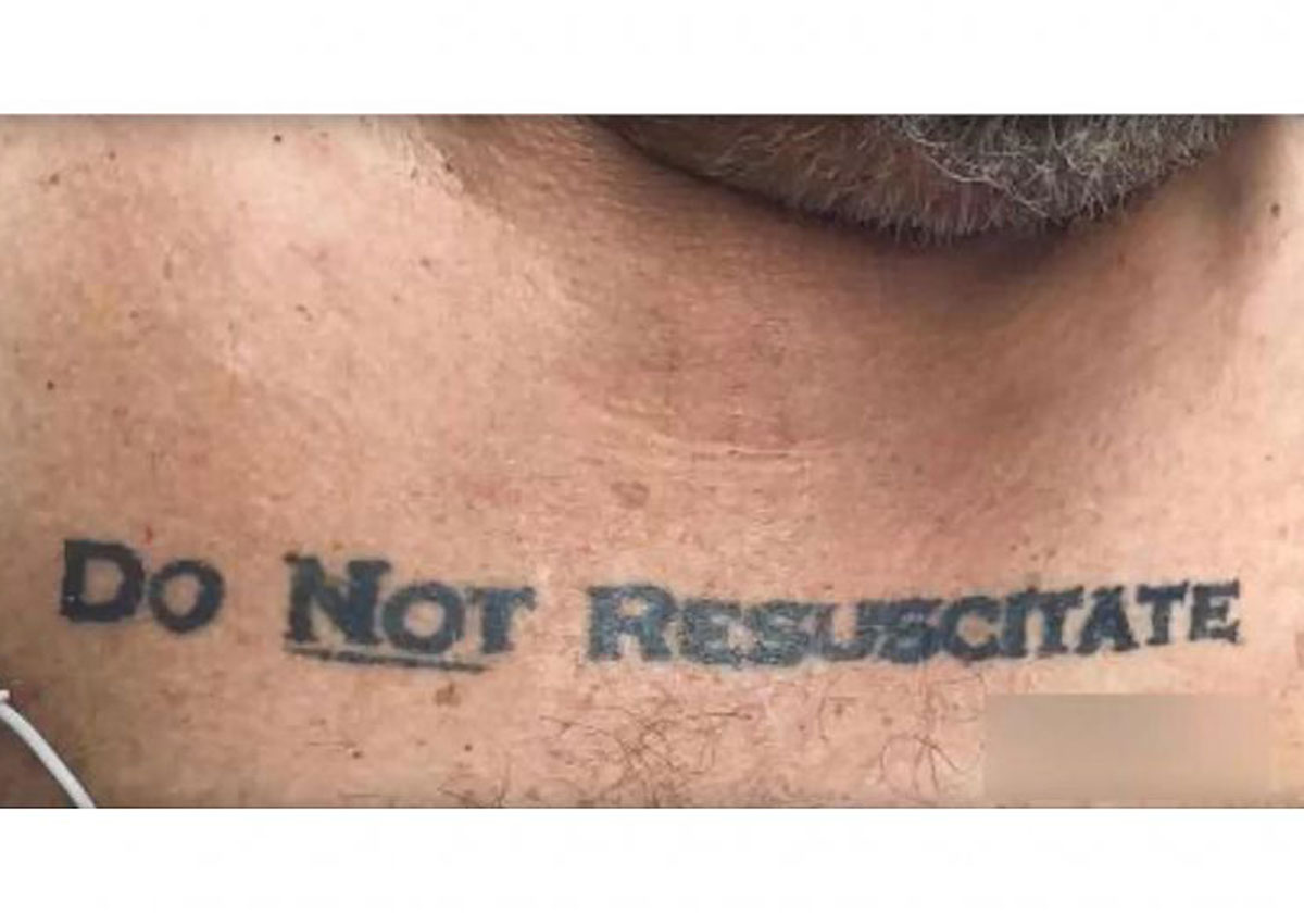 US man's tattoo leaves doctors with life-or-death dilemma