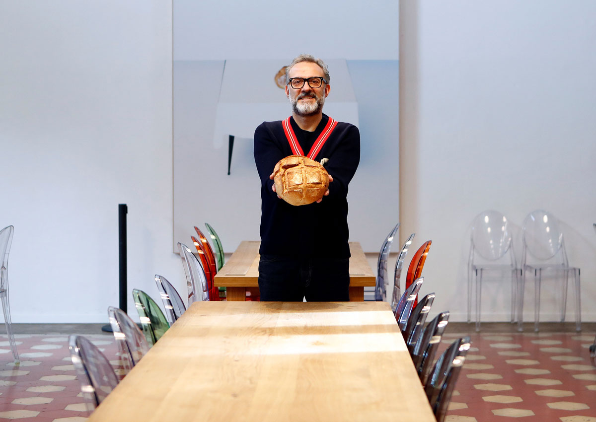 Michelin-starred Italian chef Massimo Bottura sets up soup kitchens for the poor