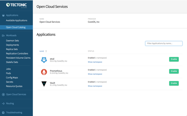 CoreOS Tectonic 1.8 makes it easy to plug external services into Kubernetes