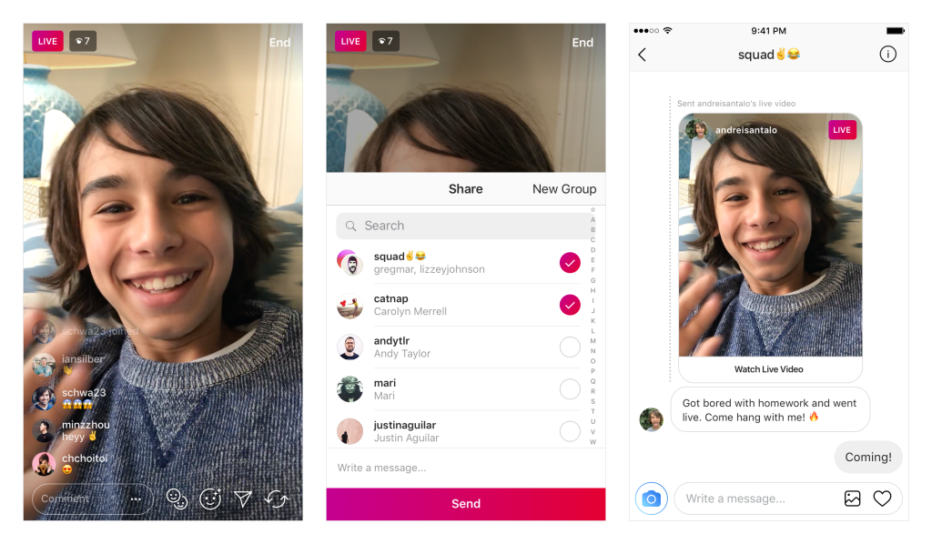 Instagram now lets you share live videos through direct messages