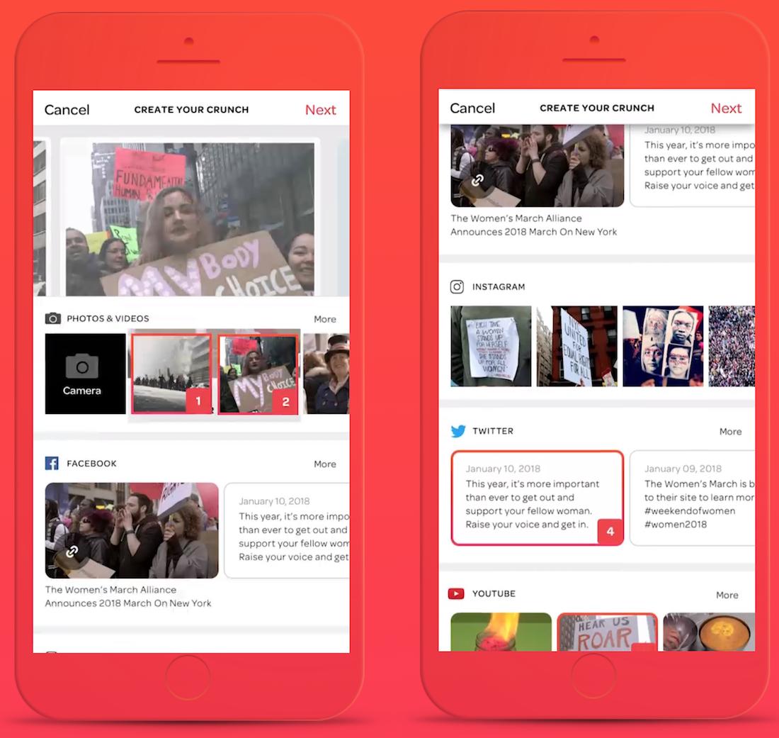 Women's March embraces collaborative social app Crunchet
