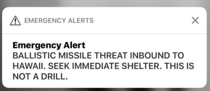 'Inexcusable' false ballistic missile alert in Hawaii was caused by human error