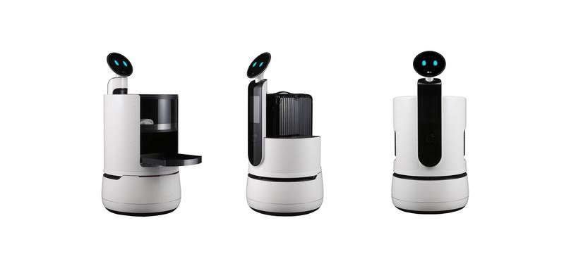 LG's new robots deliver food and double as shopping carts