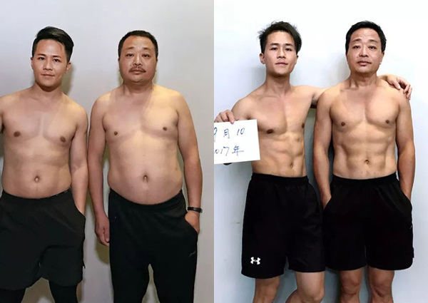 Man in China gained 10kg to help father lose weight