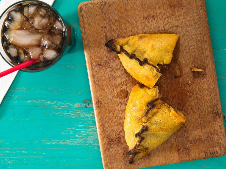 Salteñas (Bolivian Hand Pies Filled With Chicken Stew)