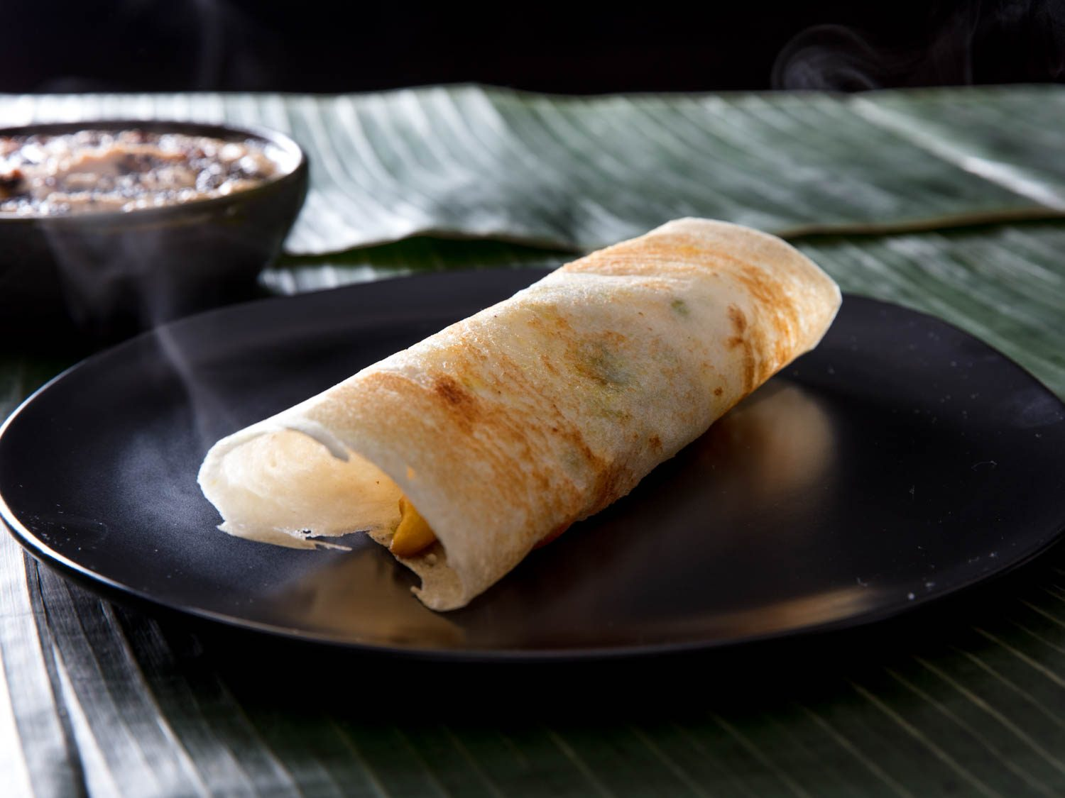 Masala Dosa (Potato-Filled Rice-and-Lentil Crepe)