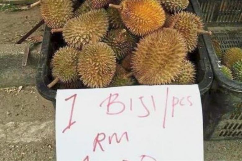 Durian prices drop to lowest at RM1 per unit in Malaysia