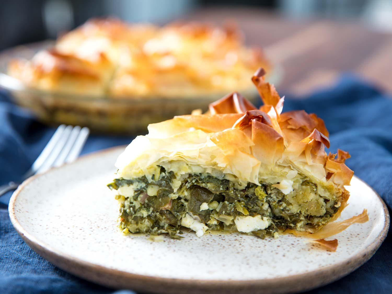 Spanakopita (Greek Savory Greens Pie)