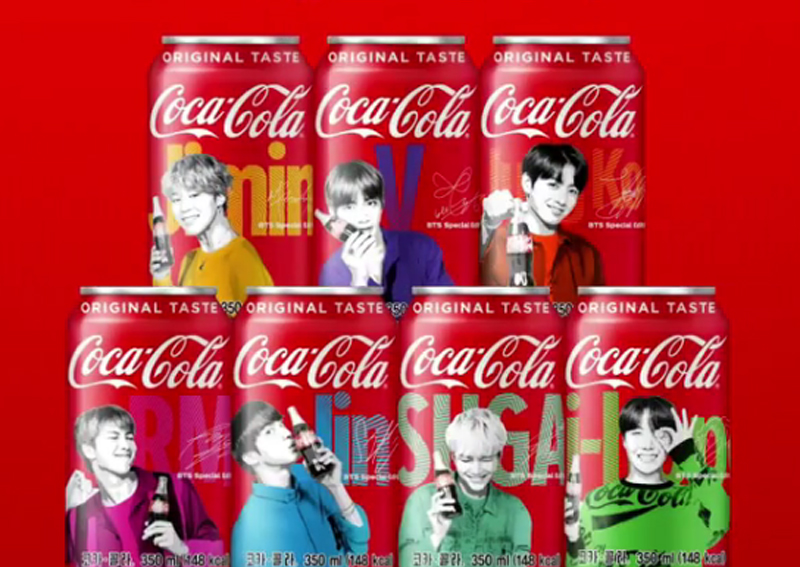 There'll be BTS Coca-Cola cans and bottles in July