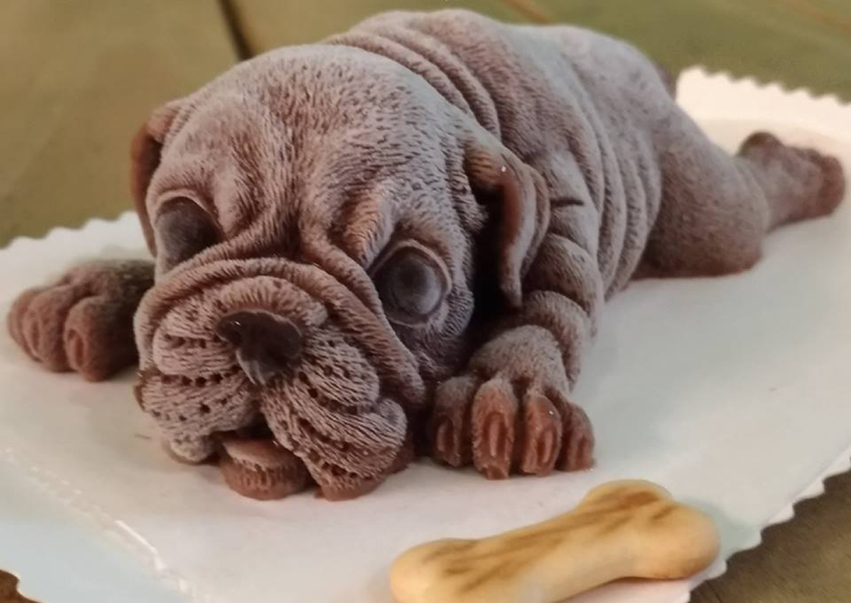 This puppy ice cream is so lifelike, people can't bear to eat it