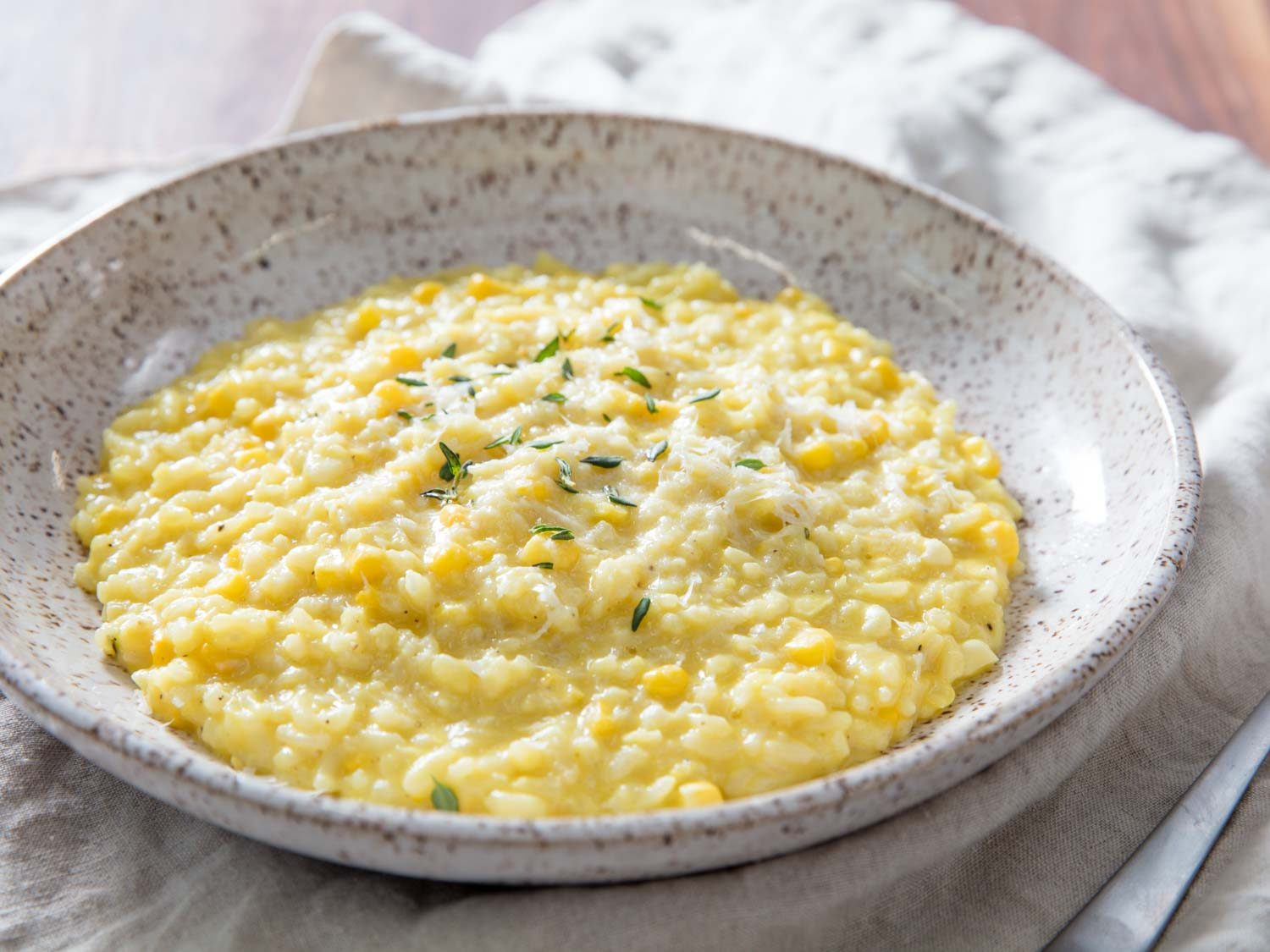 Pressure Cooker Corn Risotto