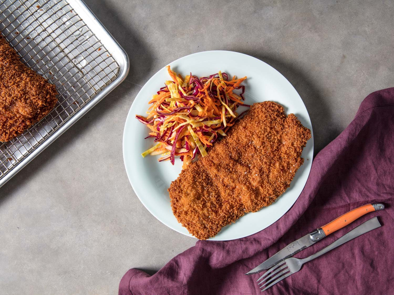 Pork Schnitzel (Breaded and Fried Pork Cutlet)