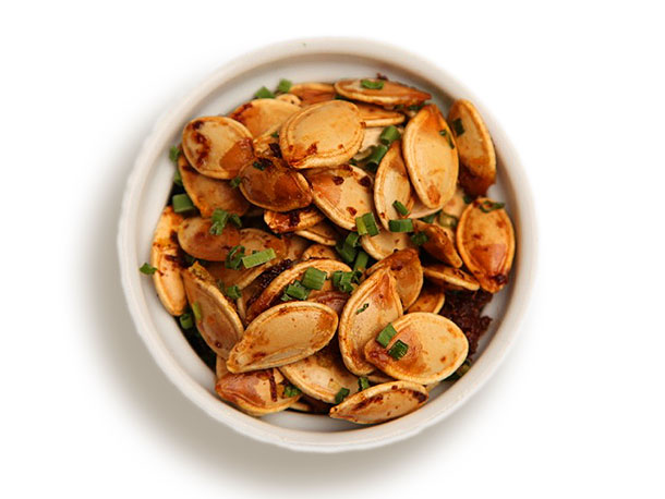 Roasted Pumpkin Seeds With Ginger and Orange Zest