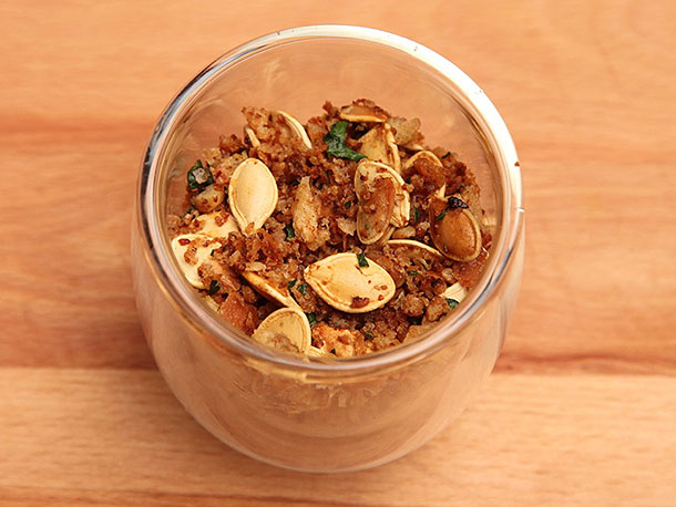 Roasted Pumpkin Seeds With Anchovy Bread Crumbs