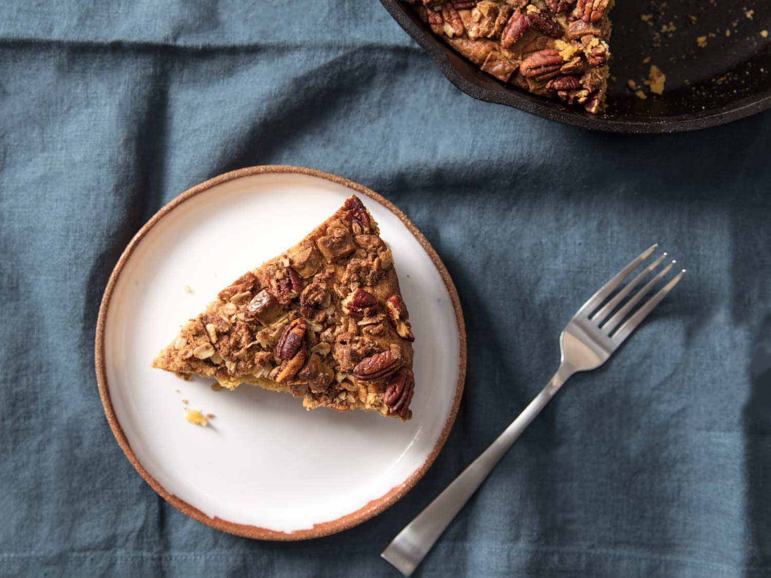 Pumpkin Skillet Coffeecake With Streusel Topping