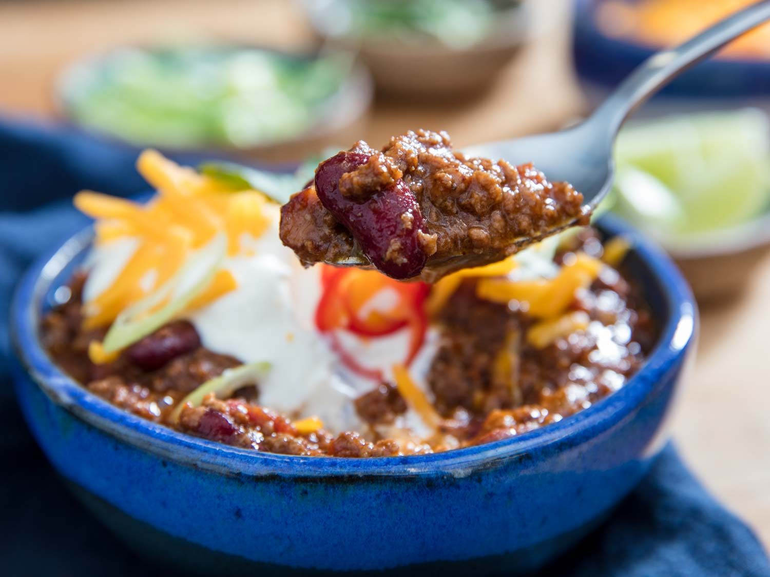 Pressure Cooker Ground Beef and Bean Chili