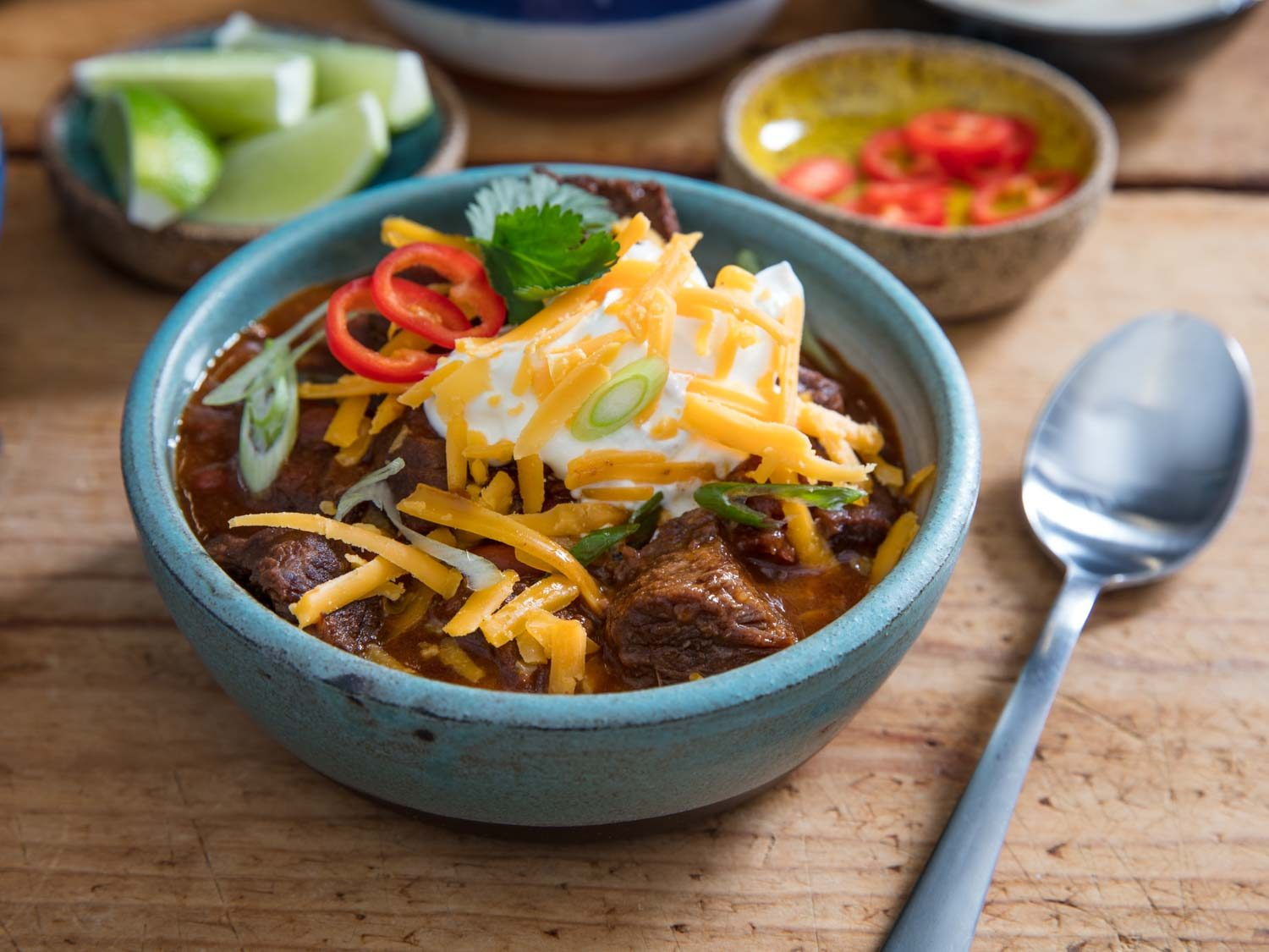 Pressure Cooker Chunky Beef and Bean Chili