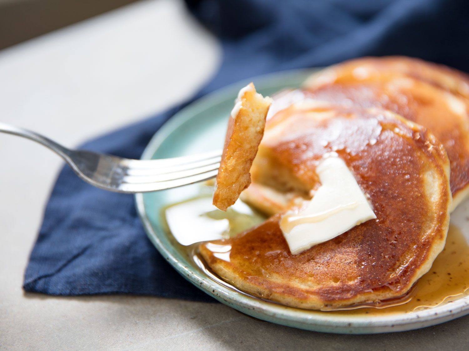 Light and Thin Pancakes From Homemade, Shelf-Stable Pancake Mix