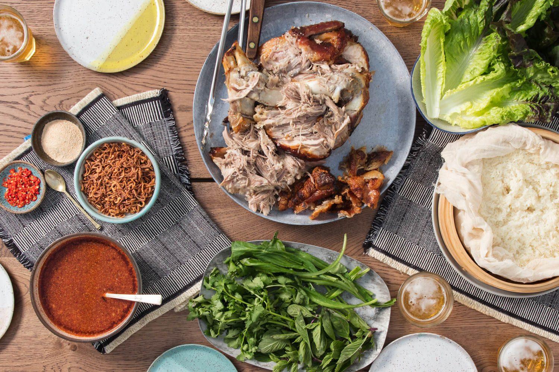 Thai-Inspired Slow-Roasted Pork Shoulder Feast