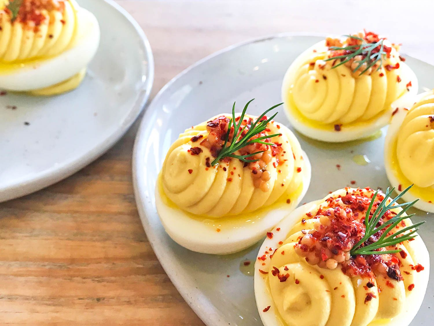Mustardy Deviled Eggs From Wursthall