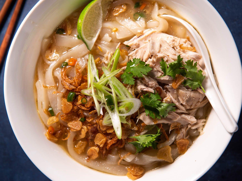 Khao Piak Sen (Lao Chicken-Noodle Soup)