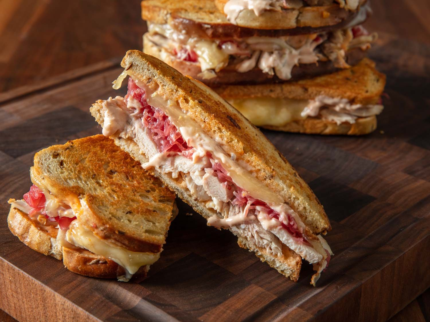 Thanksgiving Turkey Reuben Sandwich