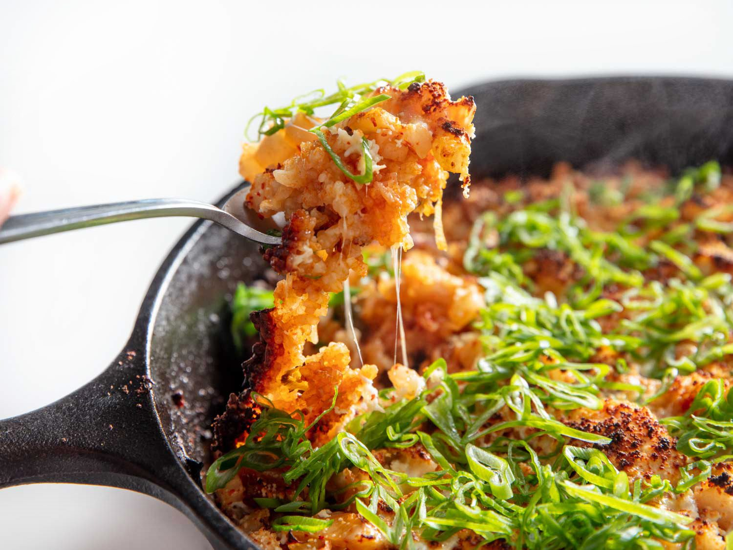 Crispy Cheese- and Kimchi-Topped Skillet Rice