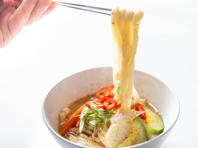 Korean Anchovy Knife-Cut Noodle Soup (Myeolchi Kal Guksu)