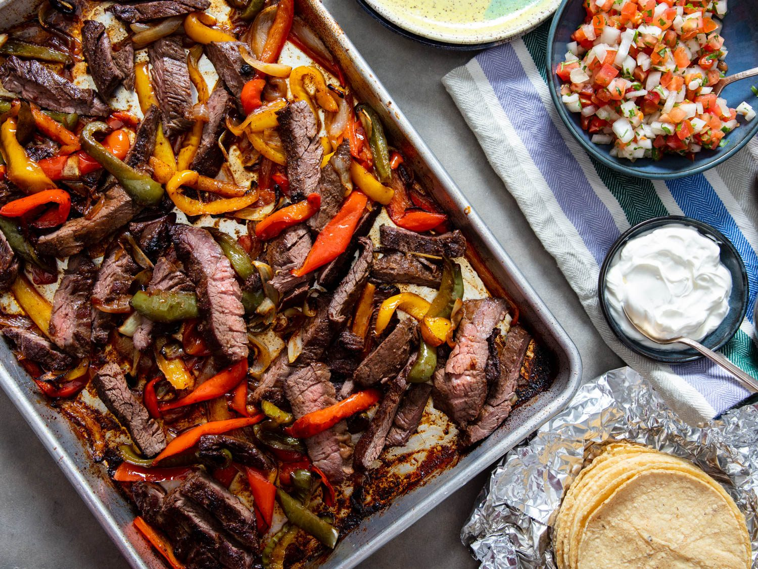 Sheet-Pan Skirt Steak Fajitas