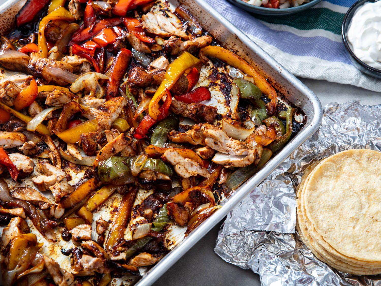 Sheet-Pan Chicken Fajitas
