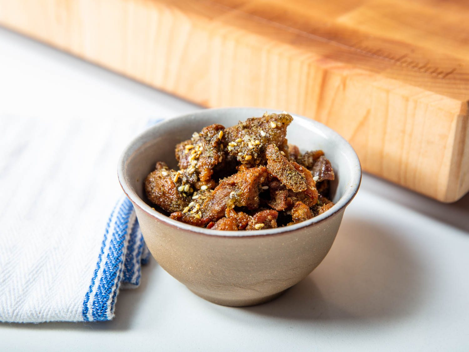 Crispy Duck Cracklings With Za'atar and Sea Salt