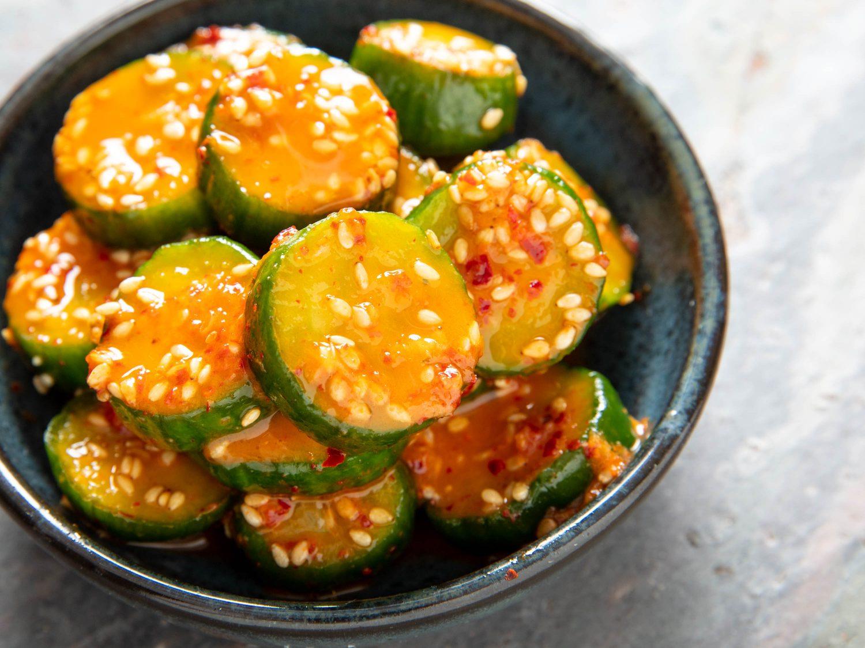Korean Marinated Cucumber Banchan (Oi Muchim)