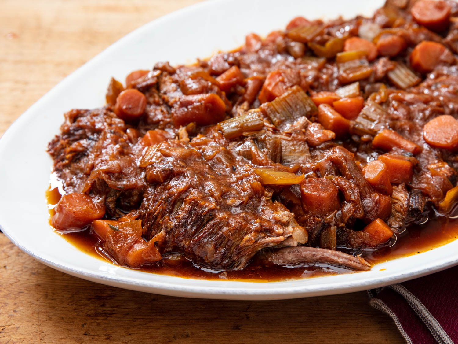 Pressure Cooker Jewish-Style Braised Brisket With Onions and Carrots